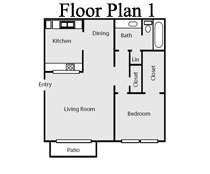 705 sq. ft. floor plan