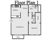 705 sq. ft. floor plan
