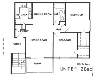 805 sq. ft. floor plan