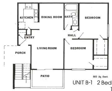 805 sq. ft. floor plan