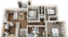1,120 sq. ft. C1-60% floor plan