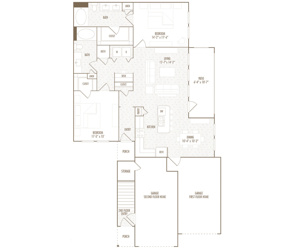 1,251 sq. ft. EG floor plan