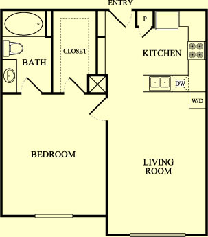 750 sq. ft. Meadowlark/60% floor plan