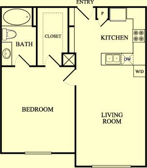 750 sq. ft. Meadowlark/60% floor plan