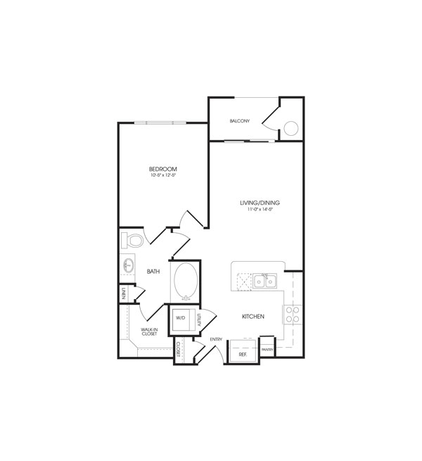 631 sq. ft. Canvas floor plan