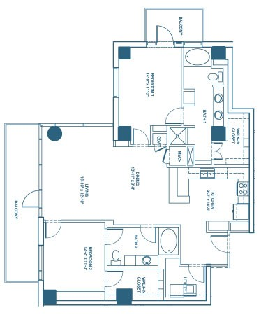 1,471 sq. ft. B1 floor plan
