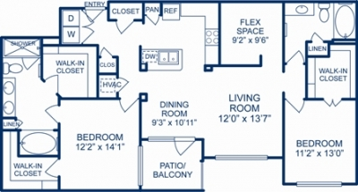 1,404 sq. ft. SAN FRANCISCO floor plan