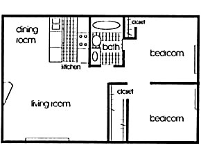 801 sq. ft. floor plan