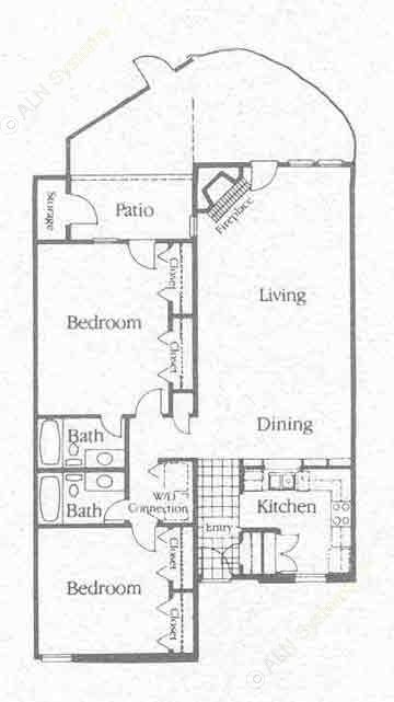 1,312 sq. ft. B1 floor plan