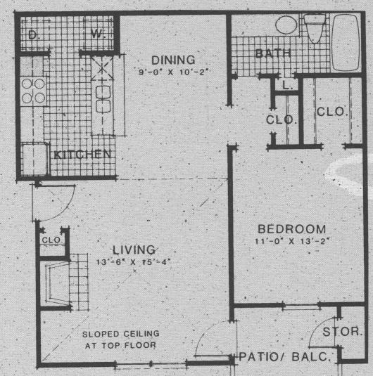 797 sq. ft. A8 floor plan