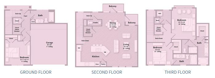 2,138 sq. ft. T1E floor plan