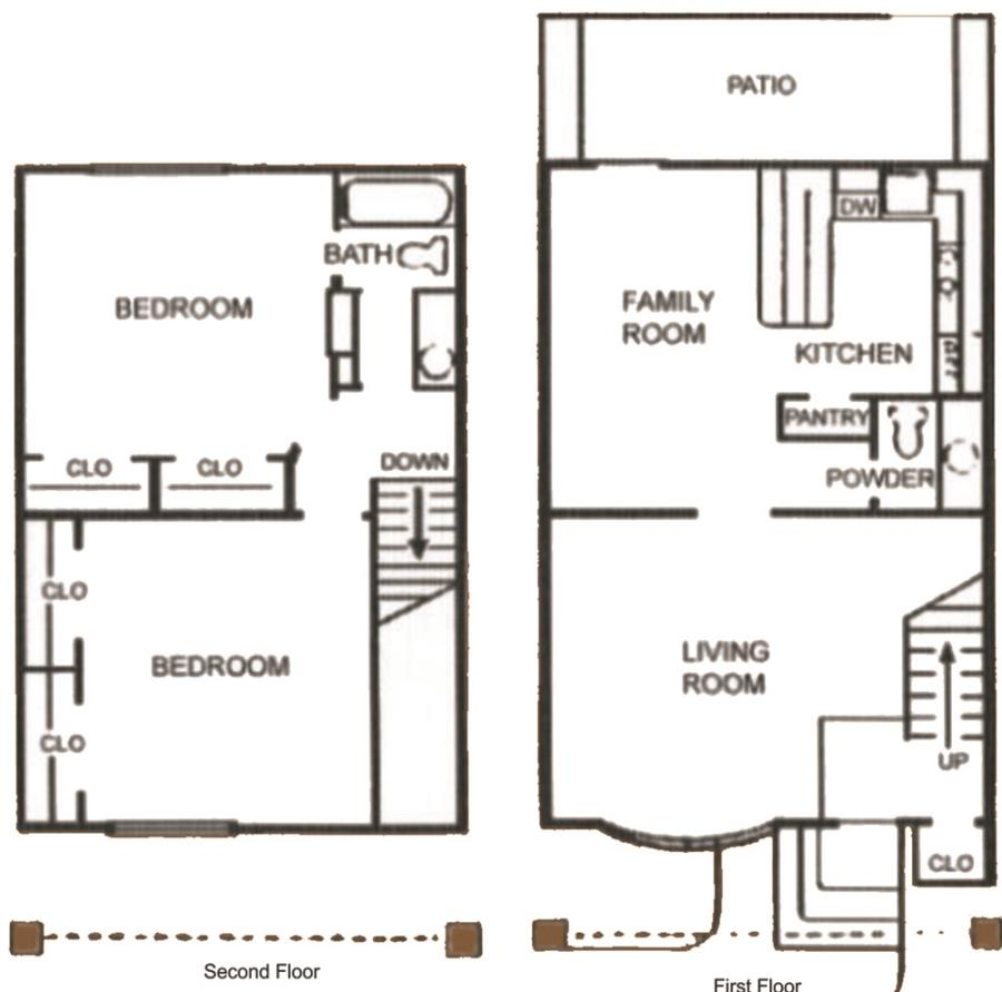 1,100 sq. ft. SB21 floor plan