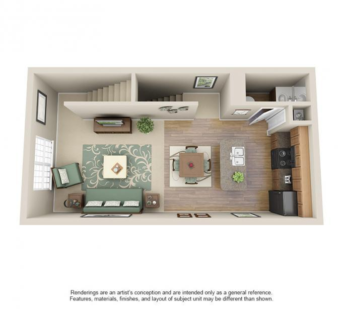 1,024 sq. ft. PANTHER floor plan