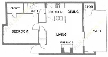 752 sq. ft. floor plan