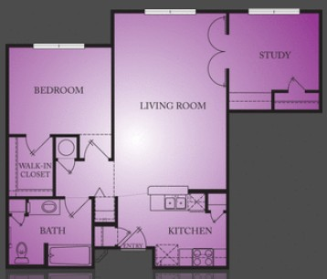 848 sq. ft. Frazier floor plan