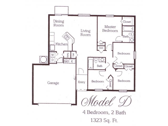 1,341 sq. ft. 50% floor plan