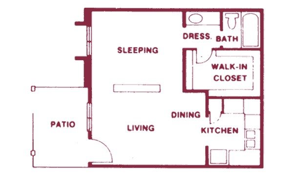 505 sq. ft. floor plan