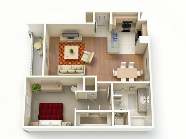 814 sq. ft. A floor plan
