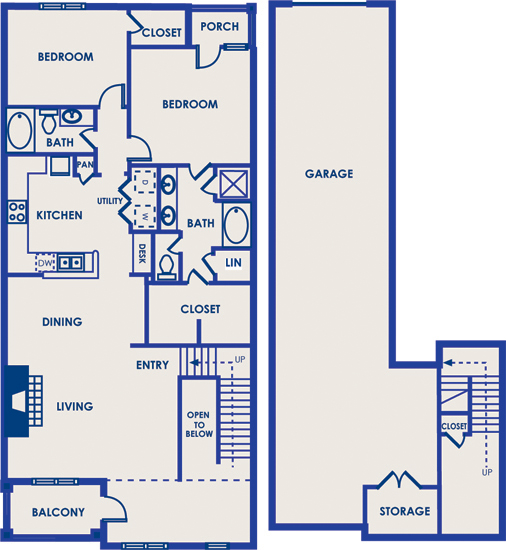 1,578 sq. ft. 22C floor plan