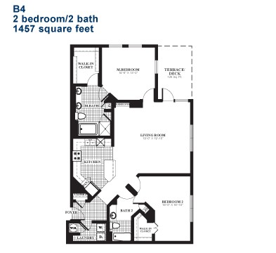 1,470 sq. ft. B4.1 floor plan