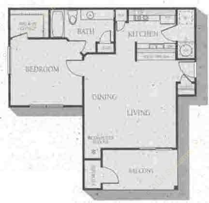 862 sq. ft. Hawthorne floor plan