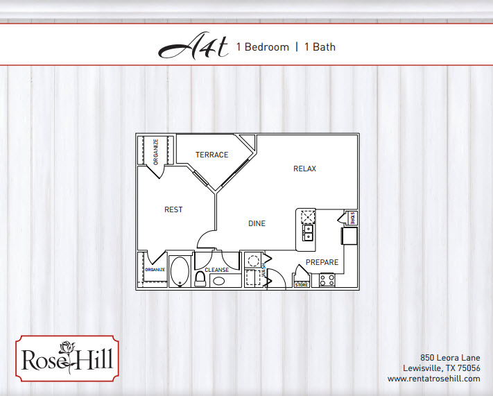 902 sq. ft. A4T floor plan