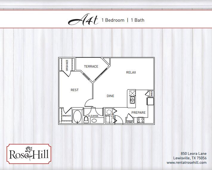 902 sq. ft. A4T/A4TP floor plan