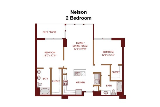 1,187 sq. ft. Nelson C5 floor plan