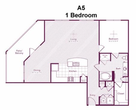 1,165 sq. ft. Montrose floor plan