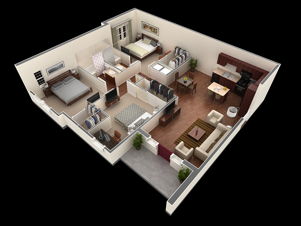 1,324 sq. ft. Joplin floor plan