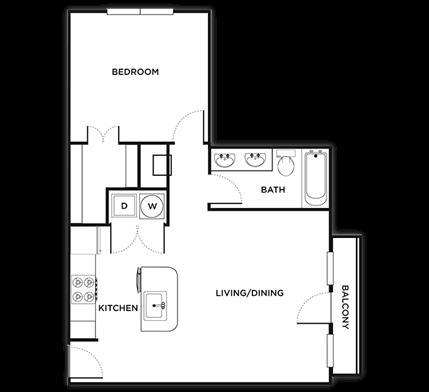 524 sq. ft. Florence/Smart floor plan