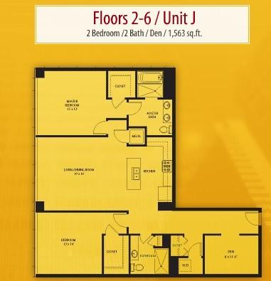 1,563 sq. ft. J floor plan