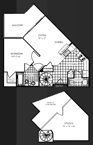 846 sq. ft. B1 floor plan
