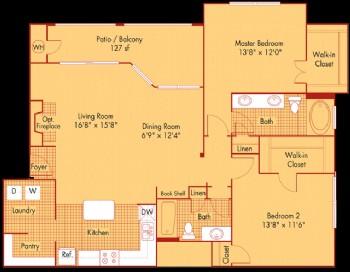 1,323 sq. ft. B3, ALT3 floor plan