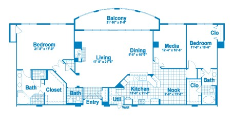 2,363 sq. ft. PT2 floor plan