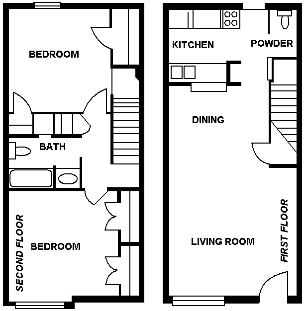 1,024 sq. ft. floor plan