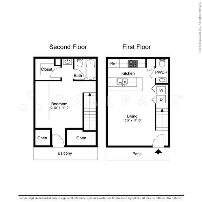 736 sq. ft. Alexandra floor plan