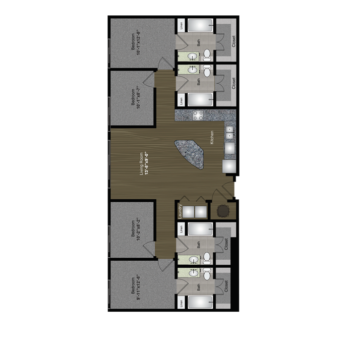 1,425 sq. ft. Capitol floor plan