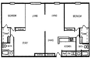 1,018 sq. ft. SAN FELIPE floor plan