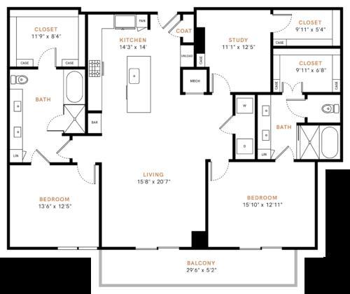 1,815 sq. ft. B7 floor plan