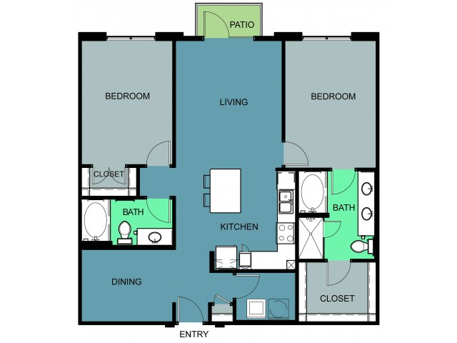 1,242 sq. ft. to 1,249 sq. ft. Montgomery floor plan