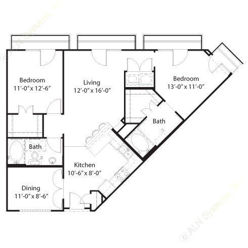 1,078 sq. ft. Bastrop floor plan