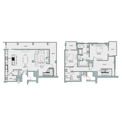 2,171 sq. ft. PH3 floor plan