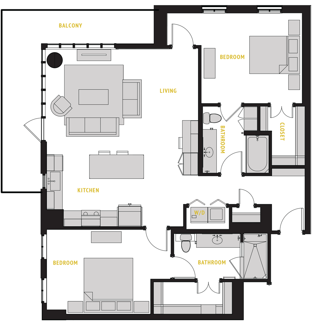 1,347 sq. ft. B3 floor plan