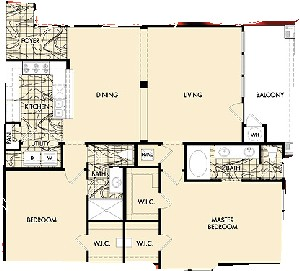1,357 sq. ft. MONTE CARLO floor plan