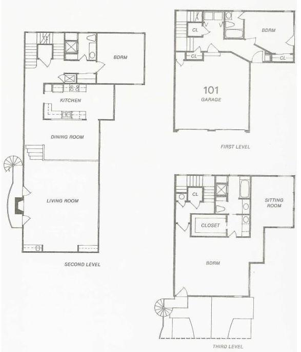 1,148 sq. ft. 111 Try-Level floor plan