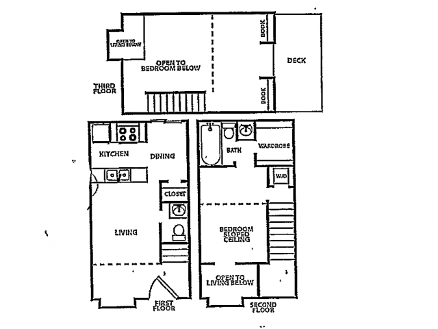 878 sq. ft. B4 floor plan