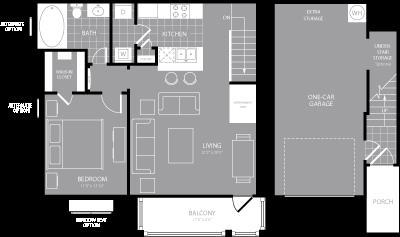 787 sq. ft. A4 floor plan