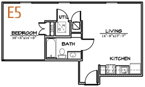 573 sq. ft. floor plan