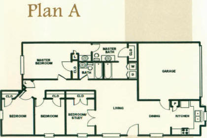 1,360 sq. ft. to 1,380 sq. ft. 60% floor plan